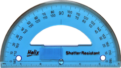 180 Degree Shatter-Resistant Protractor Quantity of 10 PT 12072 by