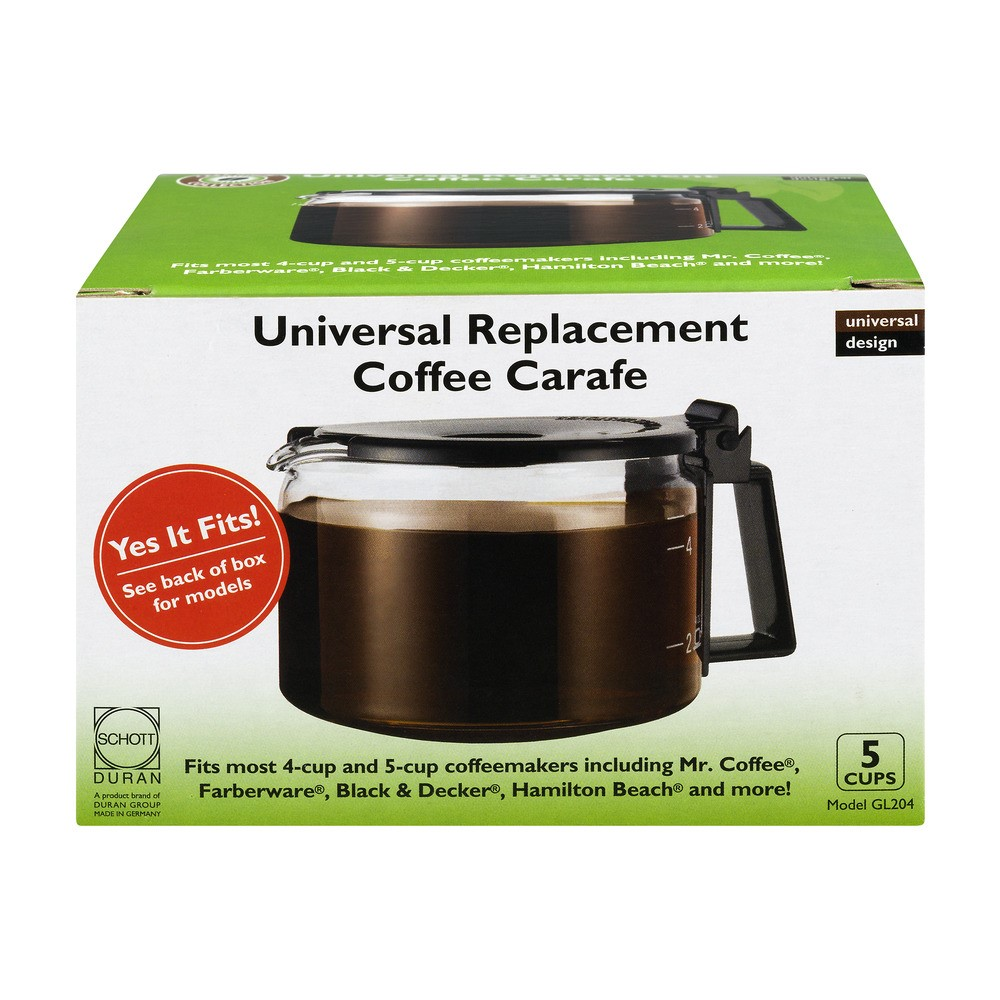 Cafe Brew Universal Replacement Coffee Carafe - 5 CUPS, 1.0 CT