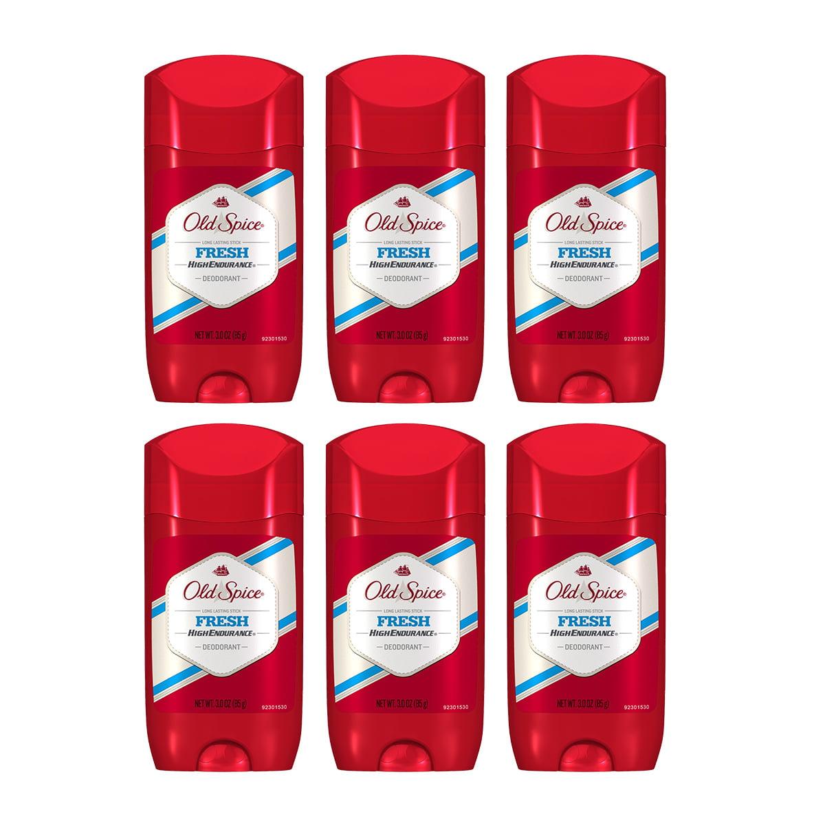 (6 Count) Old Spice High Endurance Fresh Deodorant 3 oz