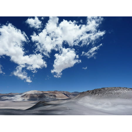 Laminated Poster Andes Clouds Mountains Blue Sky Andean Desert Poster Print 24 x 36