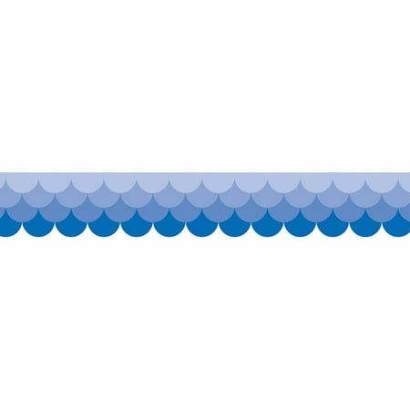 OMBRE BLUE SCALLOPS BORDERS - PAINT (Ombre Blue)