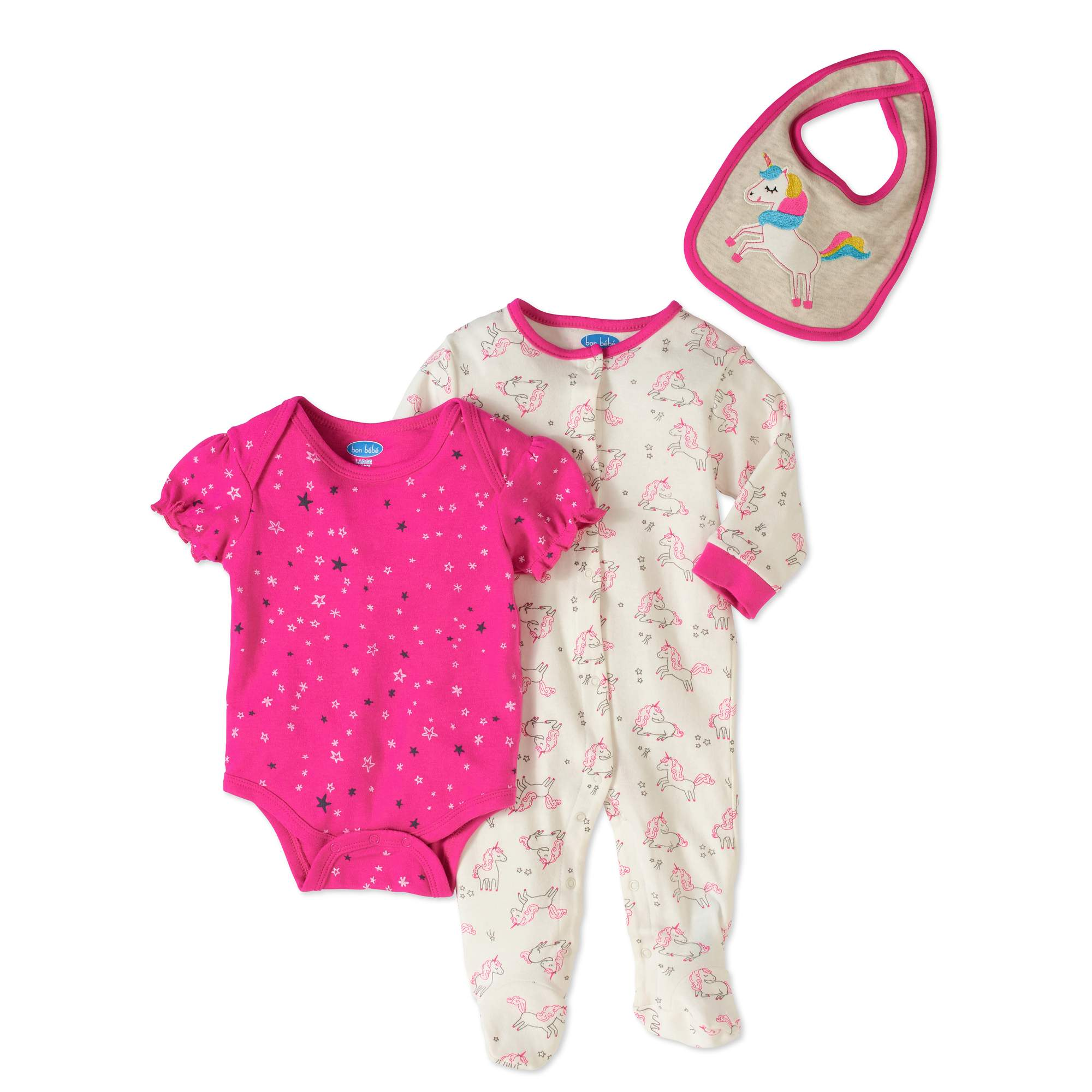 Newborn Baby Girl Take-Me-Home, 3pc Set