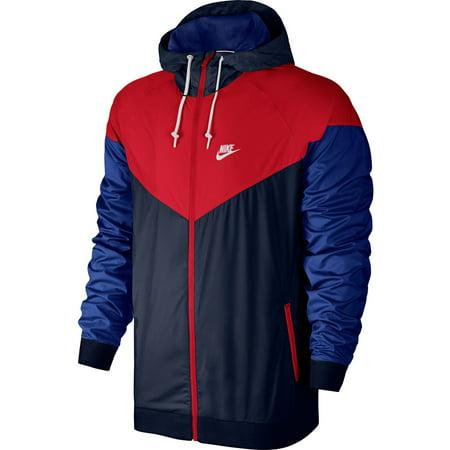 cb29bcff25 Nike - Nike Sportswear Windrunner Men s Jacket Obsidian Blue University Red  White 727324-452 - Walmart.com