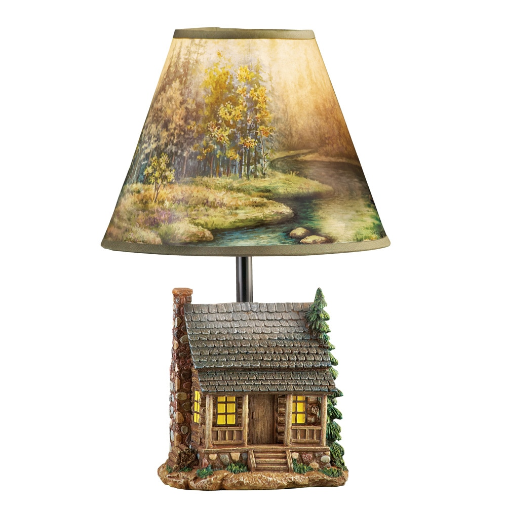 Woodland Log Cabin Lamp