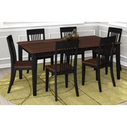 7-Pc Rectangular Dining Set with Table Leaf