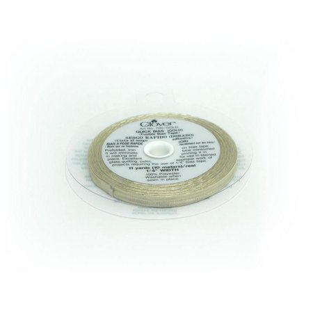 Clover Fusible Quick Bias 11yd Gold