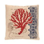Heritage Lace Seahorse Throw Pillow