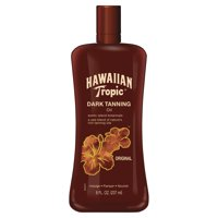 Hawaiian Tropic Dark Tanning Oil with Island Botanicals, 8 Oz