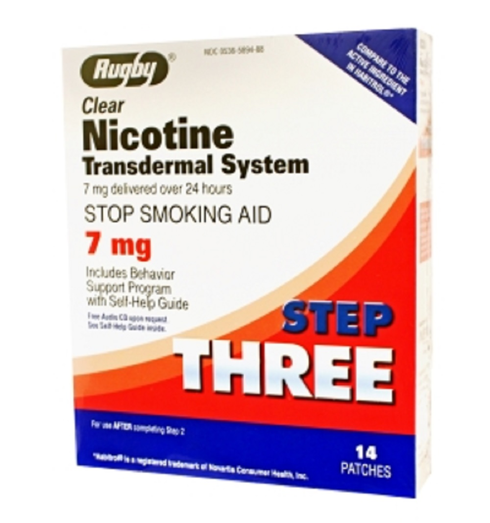 Rugby Nicotine Tds Patch 7Mg  Nicotine-14 Mg/24Hr  14 Ct Upc 305365894883