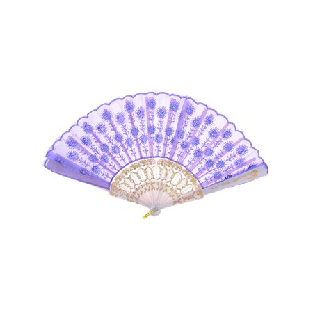 Japanese Fans (Wavy Brim Chinese Japanese Tradition Foldable Hand Fan)