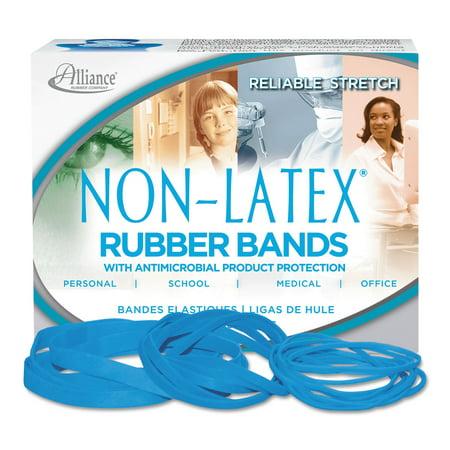 Antimicrobial Non-Latex Rubber Bands, Sz.19, 3-1/2 x 1/16, 1/4lb Box