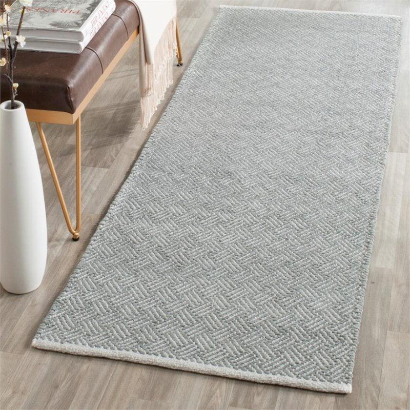 Safavieh Boston 8' Square Hand Woven Cotton Pile Rug in Gray - image 6 de 9