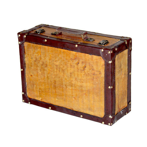 Quickway Imports Old Vintage Suitcase Trunk