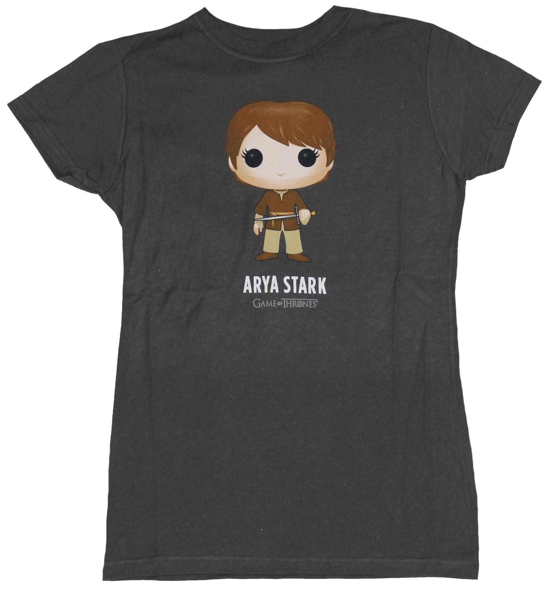 Game of Thrones Girls Juniors T-Shirt - Arya Stark Funko Pop Image