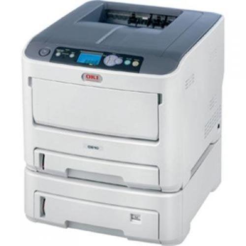 Okidata - 62433405 - Oki C610DTN LED Printer - Color - 1200 x 600 dpi Print - Plain Paper Print - Desktop - 34 ppm Mono
