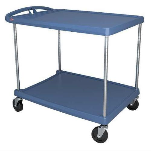 METRO MY2636-25BU Utility Cart,400 lb. Load Cap.,2 Shelves