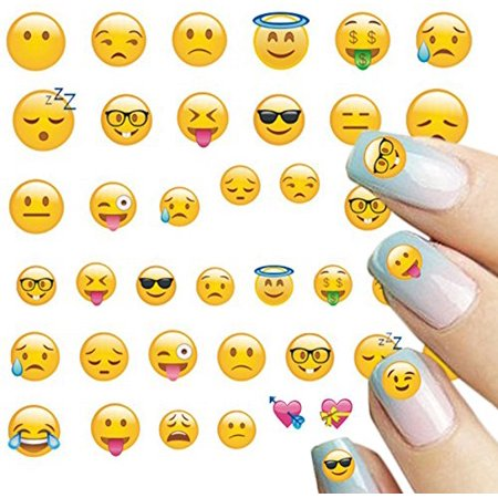 Bronco Nail Decals (Wrapables® 250+ Emoji Water Transfer Nail Decals 3D Nail Art Nail Decals (8)