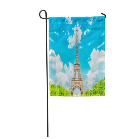 KDAGR The Eiffel Tower New 7 Wonders of World La Tour Garden Flag Decorative Flag House Banner 12x18 (7 Wonders Of The World Tour Package)