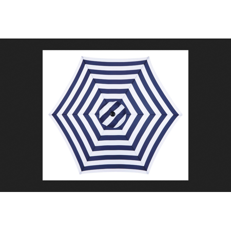 - Living Accents MARKET 9 ft. Tiltable Navy Blue Stripe Patio Umbrella