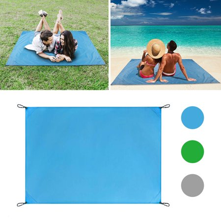 EEEkit Sand Free Beach Mat Blanket + Storage Bag,Sand Proof Magic Sandless Sand Dirt & Dust Disappear Fast Dry Easy to Clean Waterproof Rug Avoid Sand Dirt and Grass Keep Everything Clean-1.4*2M ()