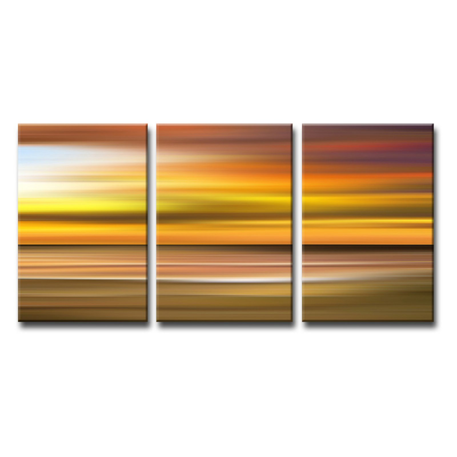 Ready2HangArt Blur Stripes X Wrapped Canvas Wall Art - Set of 3