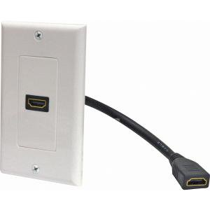 HDMI PIGTAIL WALL PLATE WHITE