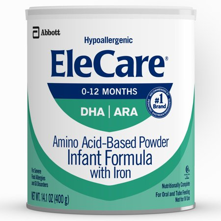 EleCare Hypoallergenic Formula, Complete Nutrition For Severe Food Allergies, Amino Acid-based Infant Formula, 14.1 oz, 1 Count