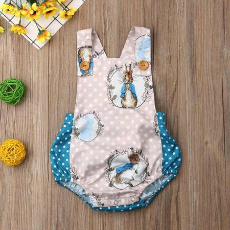Newborn Baby Boys Girls Bunny Romper Bodysuit Jumpsuit Outfits Clothes