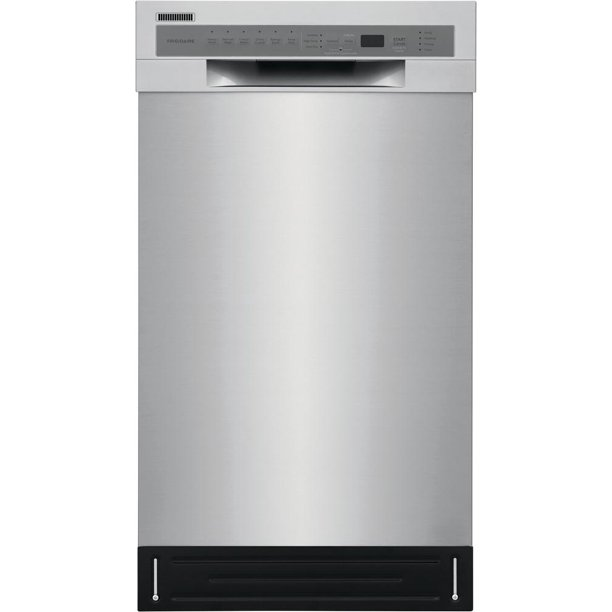 """Frigidaire FFBD1831US 18"""" Energy Star Certified Built-In Dishwasher with 8 Place Settings Stainless Steel Interior and 6 Cycles in Stainless Steel"""