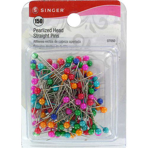 Singer Pearlized Head Straight Pins, Size 20, 150pk
