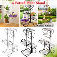 4 Tier/6 Tier Stainless Steel Plant Stand Flower Planter Garden Display Holder Shelf Rack for Home Room Ornaments Indoor Outdoor Patio 4 Tier