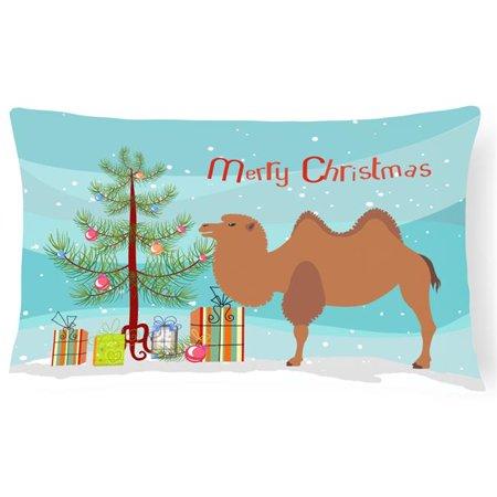 Carolines Treasures BB9185PW1216 Bactrian Camel Christmas Canvas Fabric Decorative Pillow - image 1 de 1