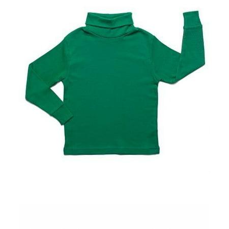 (Leveret Solid Turtleneck 100% Cotton (5 Toddler, Green))