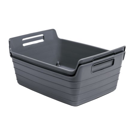 Mainstays 2pk Flex Bins Gray