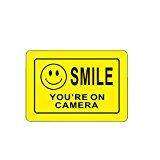 ALEKO Aluminum Video Surveillance Sign for CCTV - Smile You're On Camera
