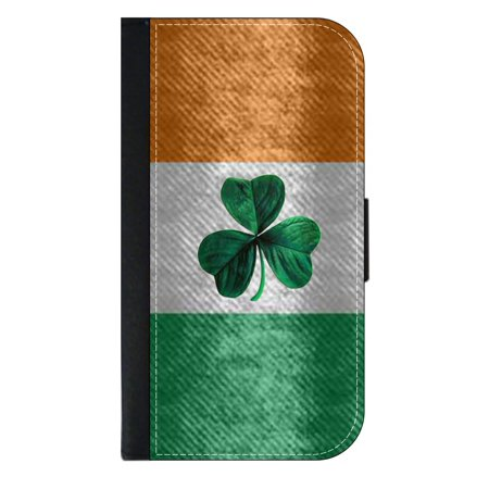 Ireland Flag - Wallet Style Cell Phone Case with 2 Card Slots and a Flip Cover Compatible with the Standard Apple iPhone 7 and 8 (Flag Cell Phone Case)