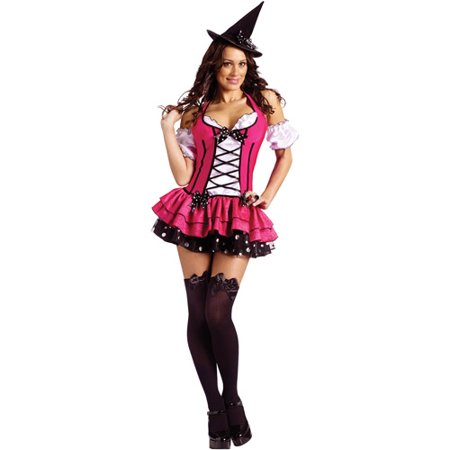 Sugar n' Spice Witch Adult Halloween Costume](Adult Witches Costume)