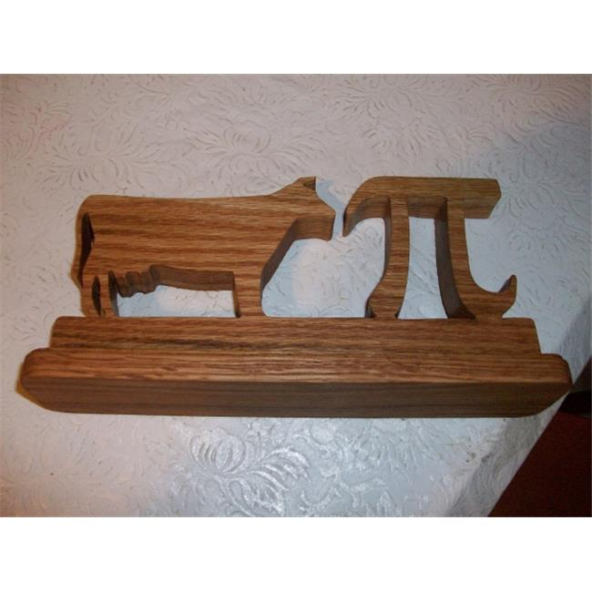 Fine Crafts 1023HUM Wooden cow pi desk sign and display