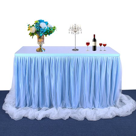 72*30 Inch Handmade Tutu Tulle Table Skirt Cloth for Party Wedding Home - Tutu Table Skirt For Sale