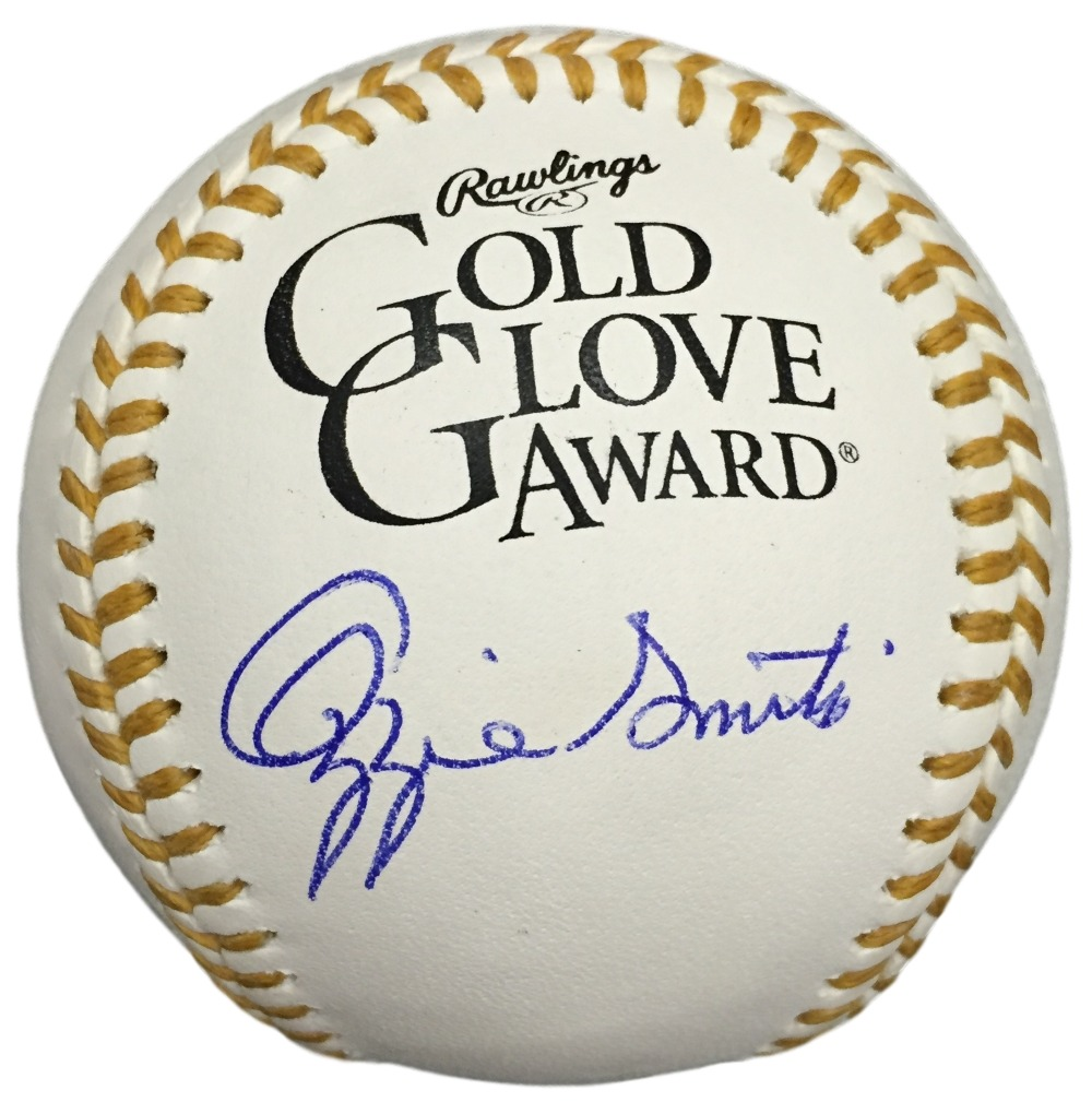Ozzie Smith Signed Rawlings Official Gold Glove Baseball JSA ITP