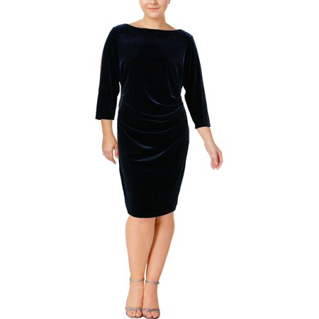 Lauren by Ralph Lauren Women's Plus Size Velvet Sheath Dress (Plus Size Velvet Veil)