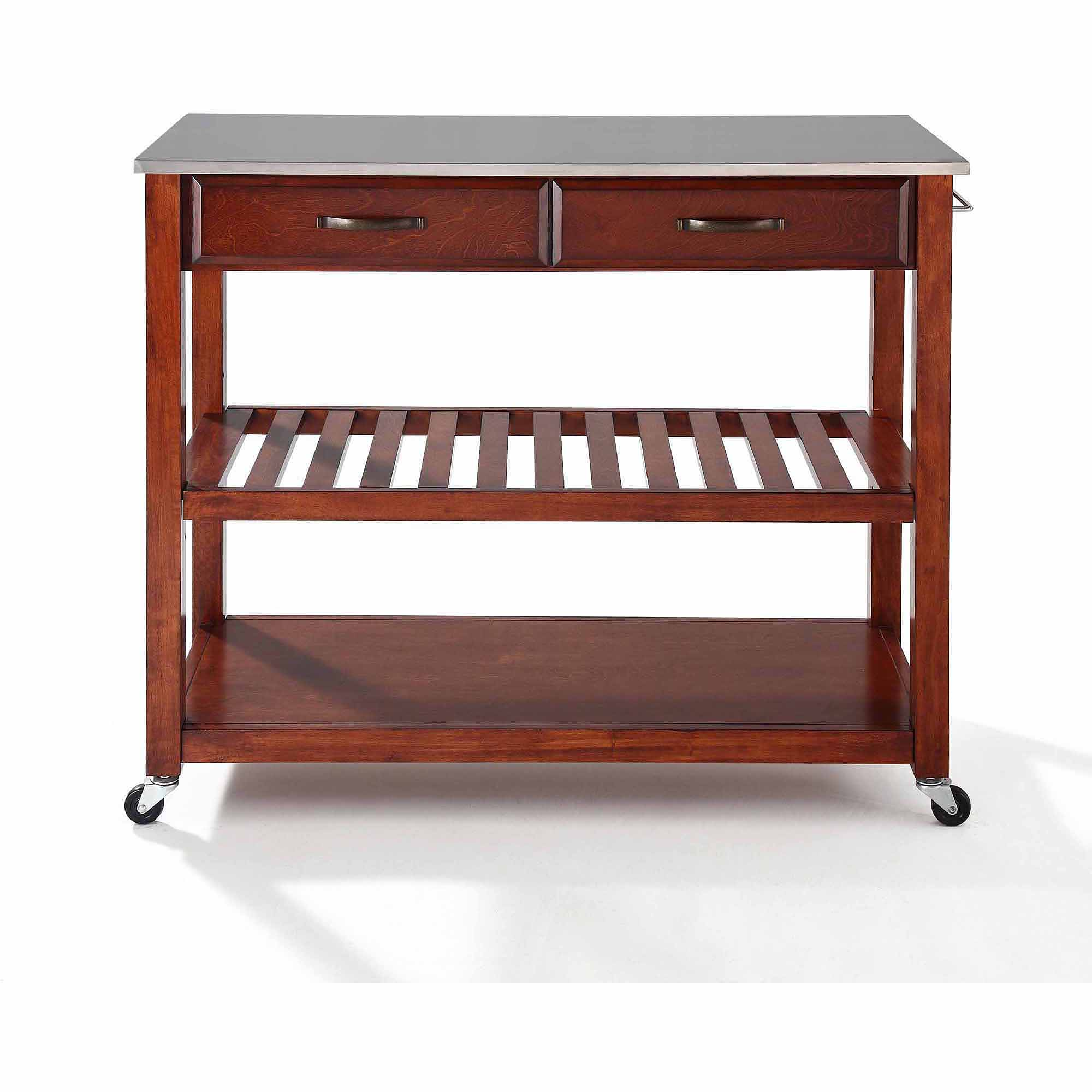 Kitchen Rolling Island. Homegear Open Storage Kitchen Storage Cart ...