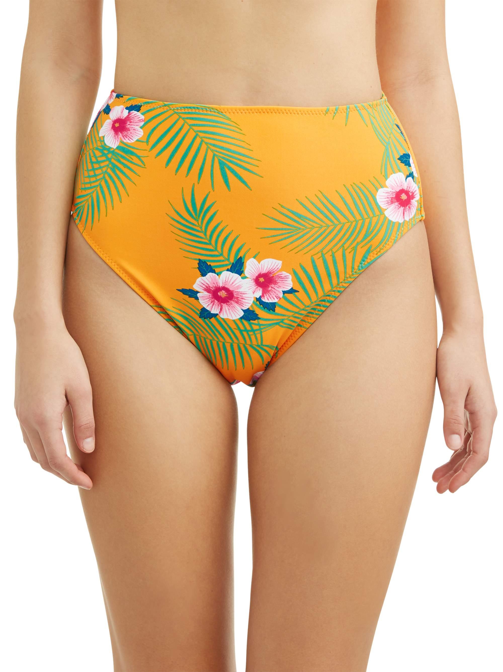 Juniors' Retro Tropical Swimsuit Bottom