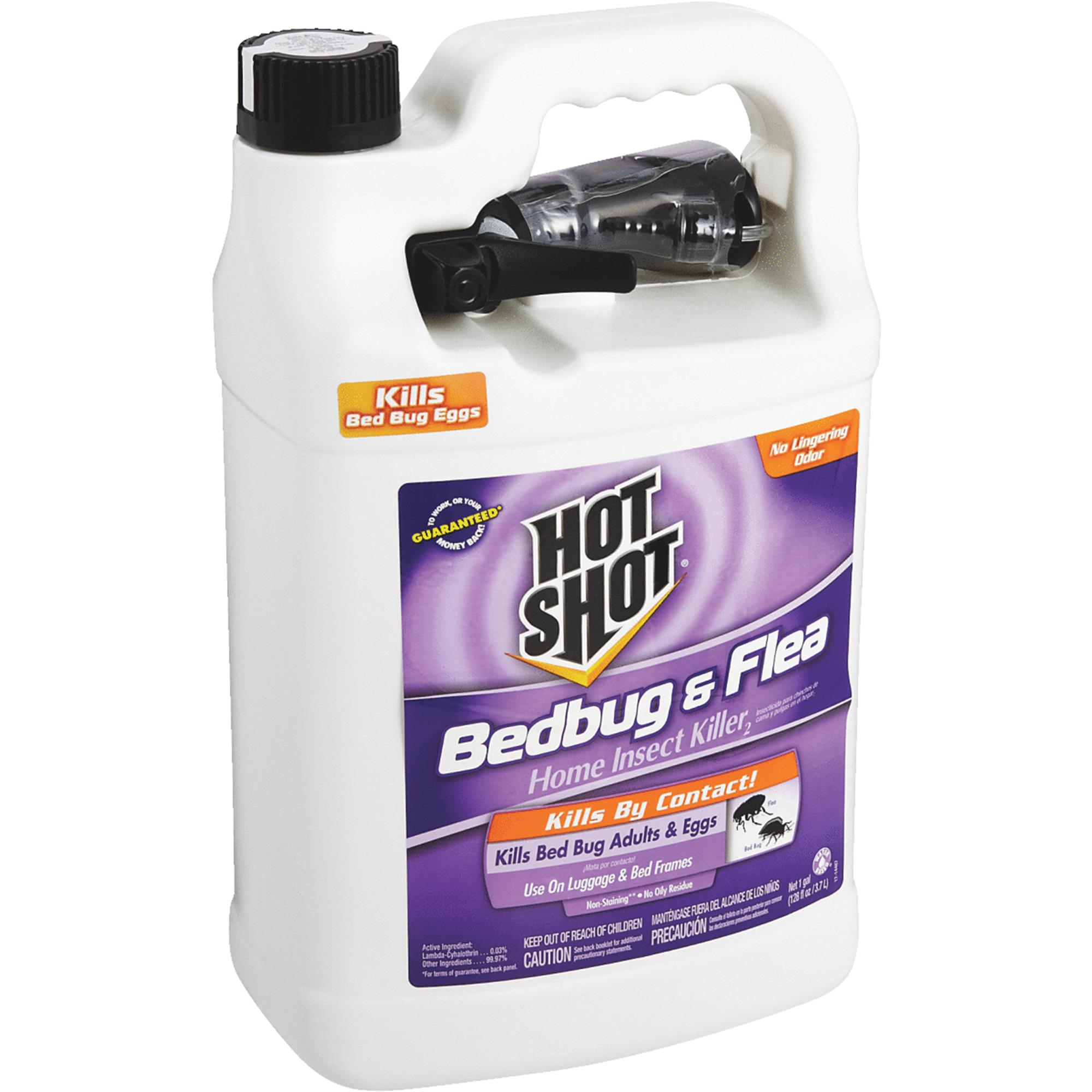 Hot Shot Bed Bug & Flea Home Insect Killer, Ready-to-Use, 1-gal