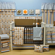 Bacati - 10pc Nursery-in -a-Bag Crib Bedding Set Collection Value Bundle, Mod Sports