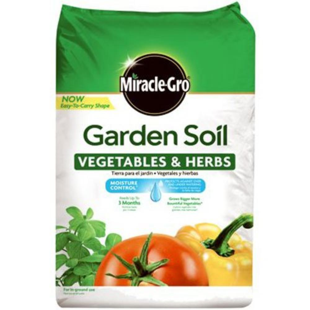 Miracle-Gro 73759430 Garden Soil Vegetables & Herbs, 1.5 CF, Grows bigger, more bountiful vegetables (versus unfed plants) By MiracleGro