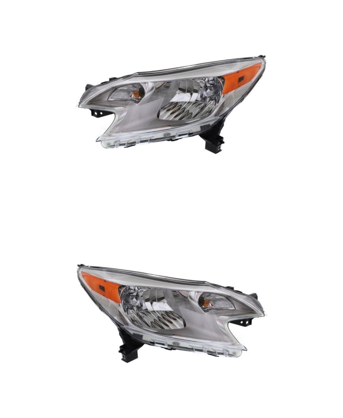 Headlights Headlight Assembly w//Bulb NEW Pair Set For 14-16 Nissan Versa Note