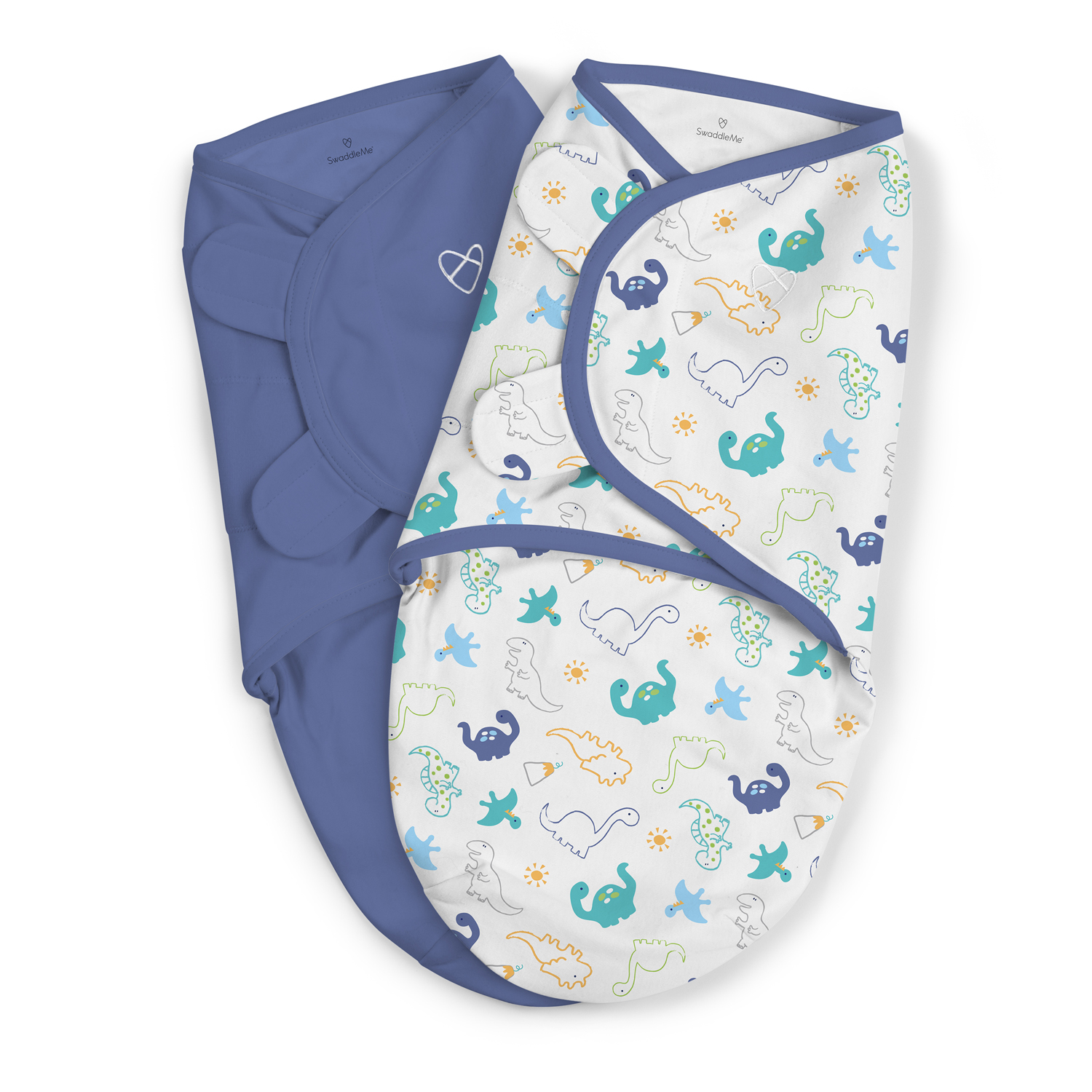 Summer Infant SwaddleMe 2 pk Cotton SM - Little Dinos