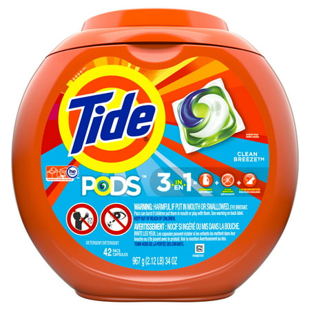 Tide Pods Clean Breeze Laundry Detergent Pacs - 42ct