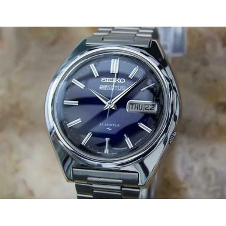Seiko 5 Actus Mens Rare Automatic 21 Jewels Stainless Japanese Watch